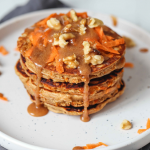 Carrot Pancakes With Almond Caramel